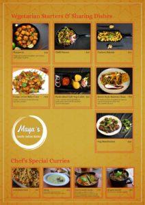 Maya's Bistro Dine In Menu Page 2