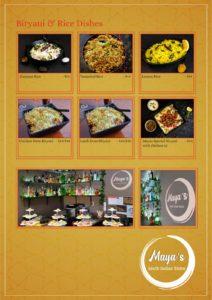 Maya's Bistro Dine In Menu Page 4